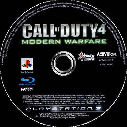 Call of Duty 4: Modern Warfare PS3 discM (BLES00148)