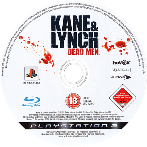 Kane & Lynch: Dead Men PS3 discM (BLES00167)