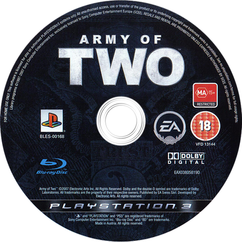 Army of Two PS3 discM (BLES00168)