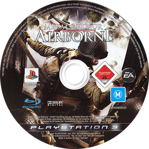 Medal of Honor: Airborne PS3 discM (BLES00174)
