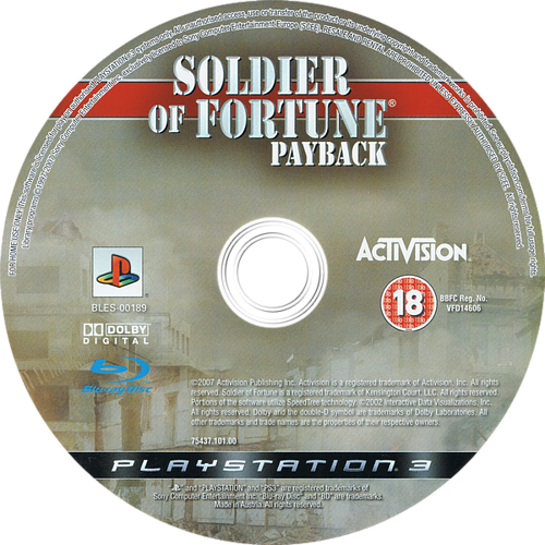 Soldier of Fortune: Payback PS3 discM (BLES00189)