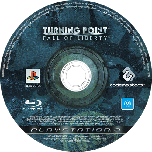Turning Point: Fall of Liberty PS3 discM (BLES00196)