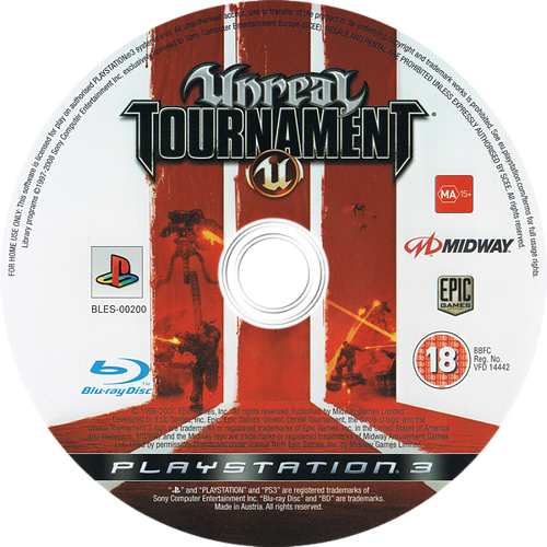 Unreal Tournament 3 PS3 discM (BLES00200)