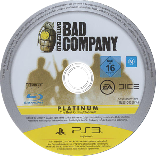 Battlefield: Bad Company PS3 discM (BLES00259)