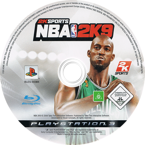 NBA 2K9 PS3 discM (BLES00384)