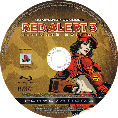 Command & Conquer: Red Alert 3 (Ultimate Edition) PS3 discM (BLES00507)