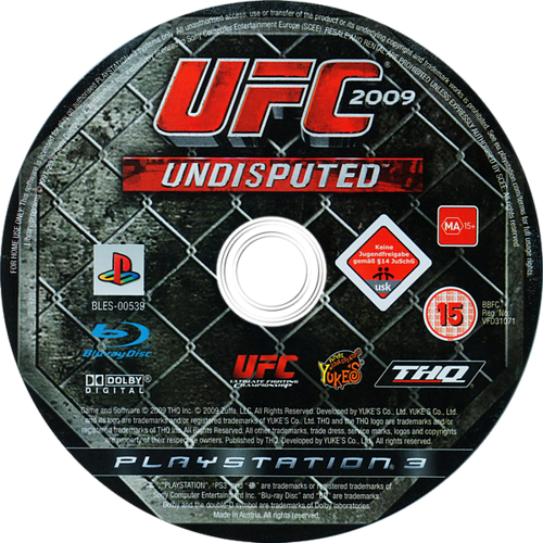 UFC 2009: Undisputed PS3 discM (BLES00539)