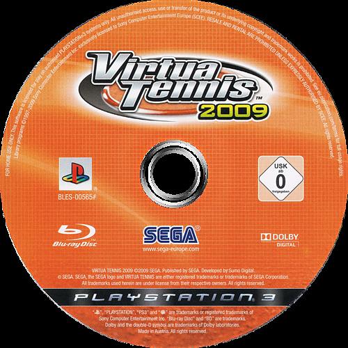 Virtua Tennis 2009 PS3 discM (BLES00565)