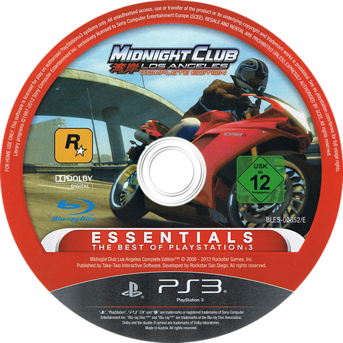 Midnight Club: Los Angeles - Complete Edition PS3 discM (BLES00652)