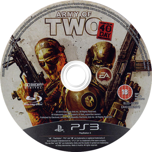 Army of Two: The 40th Day PS3 discM (BLES00659)