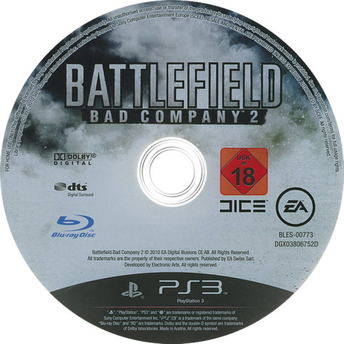 Battlefield: Bad Company 2 PS3 discM (BLES00773)