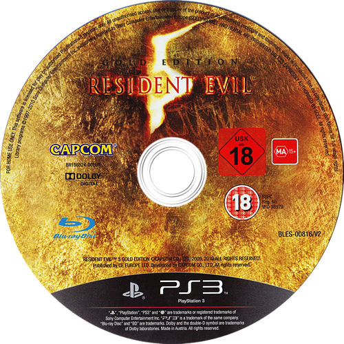 Resident Evil 5: Gold Edition PS3 discM (BLES00816)
