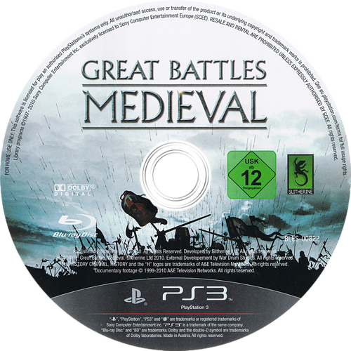 History: Great Battles Medieval PS3 discM (BLES00822)