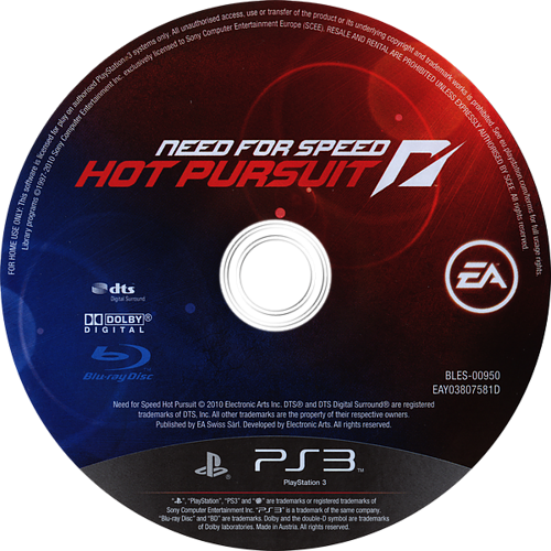 Need for Speed: Hot Pursuit (Limited Edition) PS3 discM (BLES00950)
