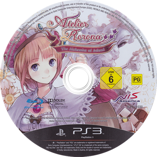 Atelier Rorona: The Alchemist of Arland Array discM (BLES01030)