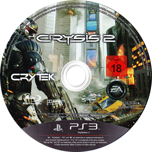 Crysis 2 PS3 discM (BLES01060)