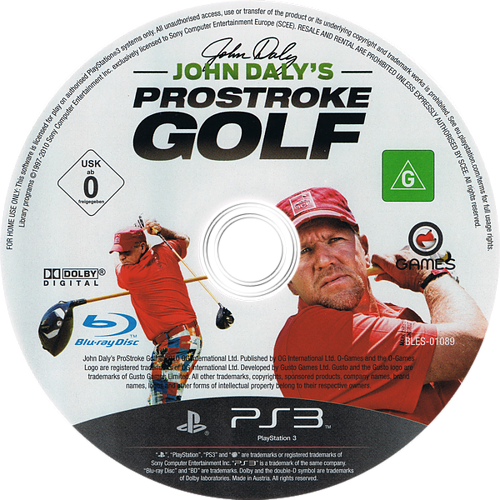 John Daly's ProStroke Golf PS3 discM (BLES01089)