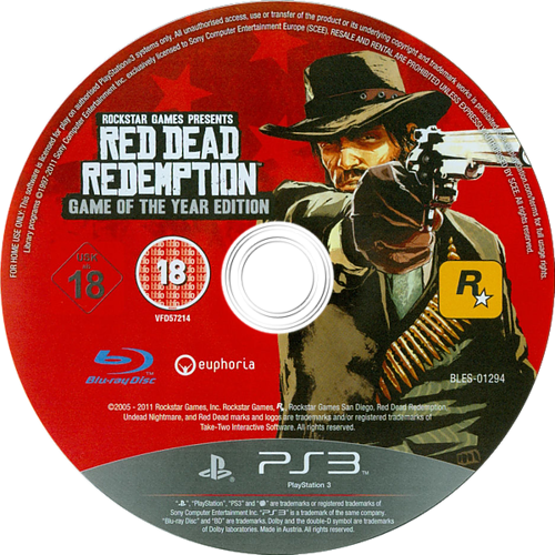 Red Dead Redemption: Game of the Year Edition PS3 discM (BLES01294)