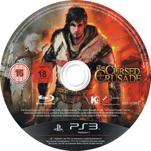 The Cursed Crusade PS3 discM (BLES01299)