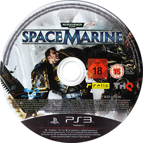Warhammer 40000: Space Marine PS3 discM (BLES01347)