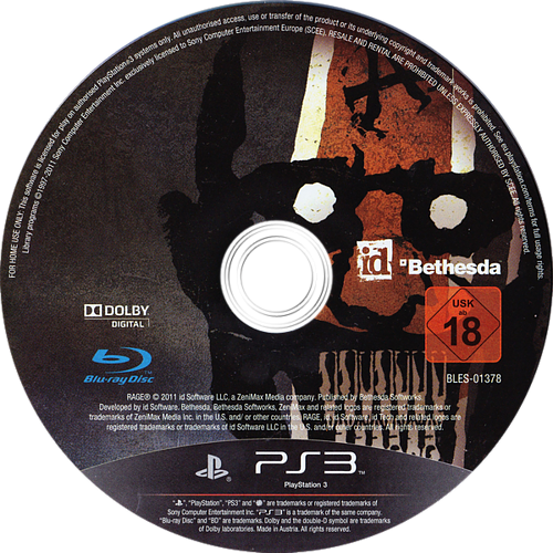 Rage: Anarchy Edition PS3 discM (BLES01378)