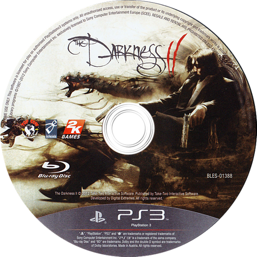 The Darkness II PS3 discM (BLES01388)