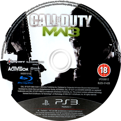 Call of Duty: Modern Warfare 3 Array discM (BLES01428)