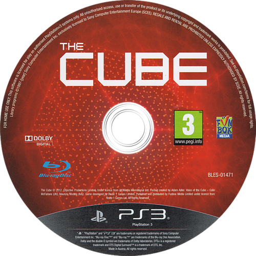 The Cube PS3 discM (BLES01471)