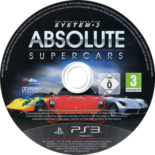 Absolute Supercars PS3 discM (BLES01500)