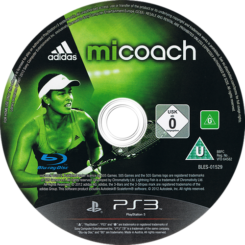 Adidas miCoach PS3 discM (BLES01529)