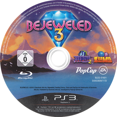 Bejeweled 3 PS3 discM (BLES01601)