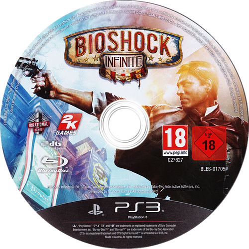 BioShock Infinite PS3 discM (BLES01705)