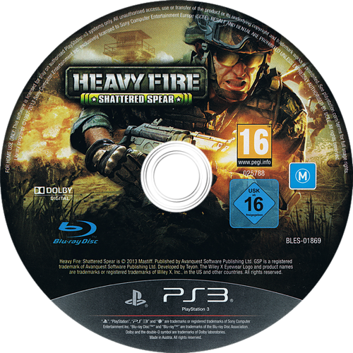 Heavy Fire: Shattered Spear PS3 discM (BLES01869)