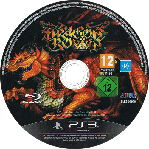 Dragon's Crown PS3 discM (BLES01950)
