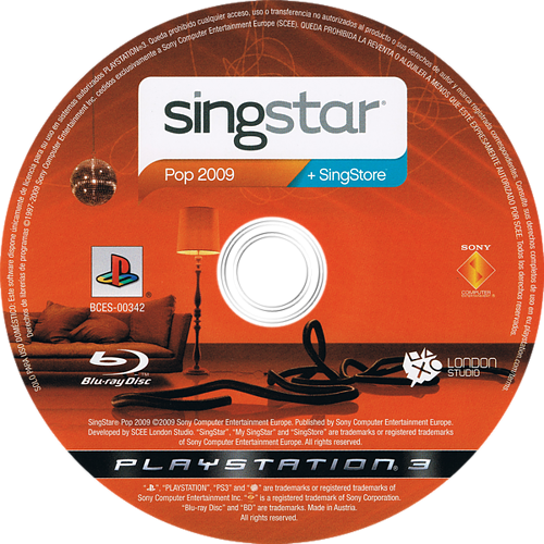 SingStar Pop 2009 PS3 discM (BCES00342)