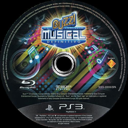 Buzz! El Concurso Musical Definitivo PS3 discM (BCES00830)