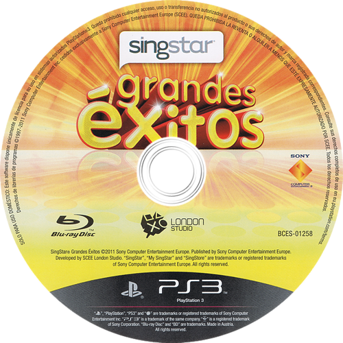 SingStar Grandes Éxitos PS3 discM (BCES01258)