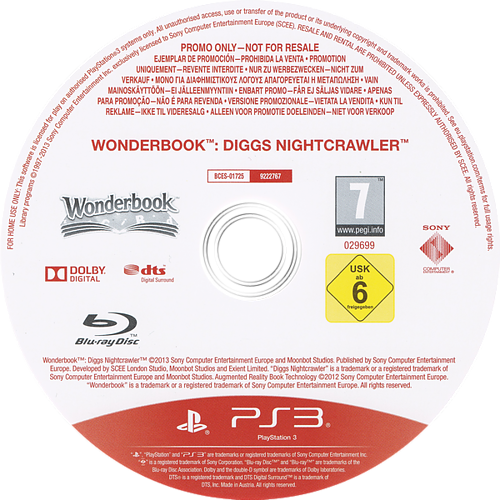 Wonderbook Diggs: Detective Privado PS3 discM (BCES01725)