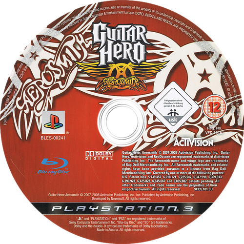 Guitar Hero: Aerosmith PS3 discM (BLES00241)