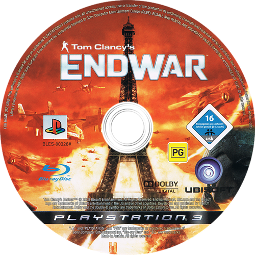 Tom Clancy's EndWar PS3 discM (BLES00326)