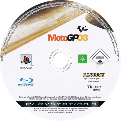 MotoGP 08 PS3 discM (BLES00396)