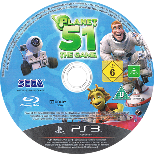 Planet 51 PS3 discM (BLES00584)