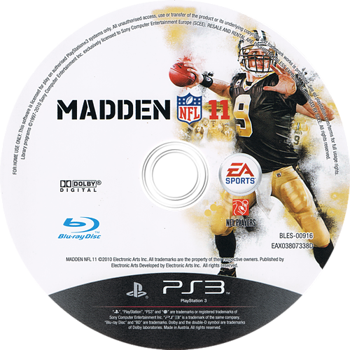 Madden NFL 11 PS3 discM (BLES00916)