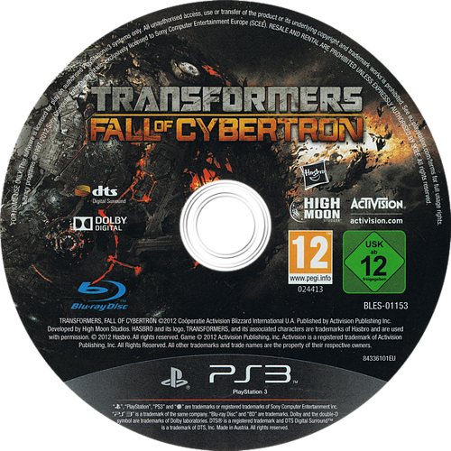 Transformers: La Caída de Cybertron PS3 discM (BLES01153)