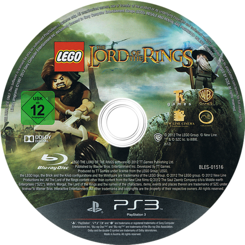 LEGO El Señor de los Anillos PS3 discM (BLES01516)