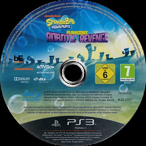 Bob Esponja: La Venganza de Plankton PS3 discM (BLES01911)