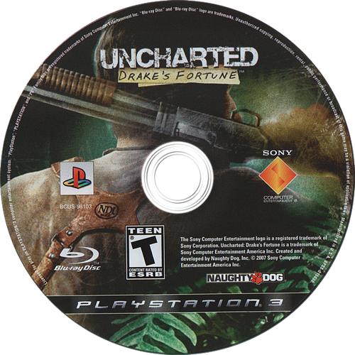 Uncharted: Drake's Fortune PS3 discM (BCUS98103)
