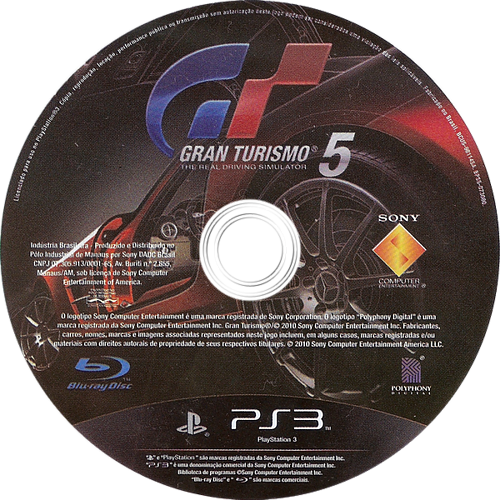 Gran Turismo 5 PS3 discM (BCUS98114)