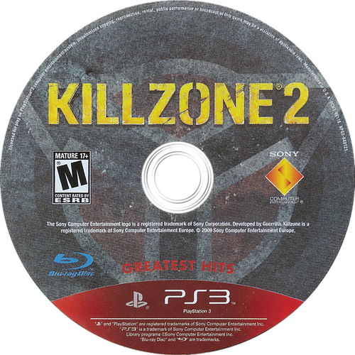 Killzone 2 PS3 discM (BCUS98116)
