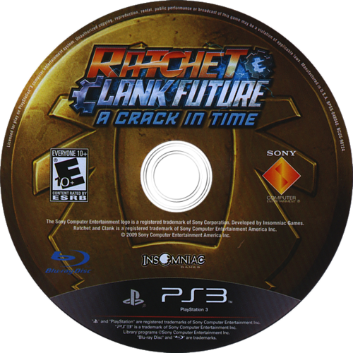 Ratchet & Clank: Future - A Crack in Time PS3 discM (BCUS98124)